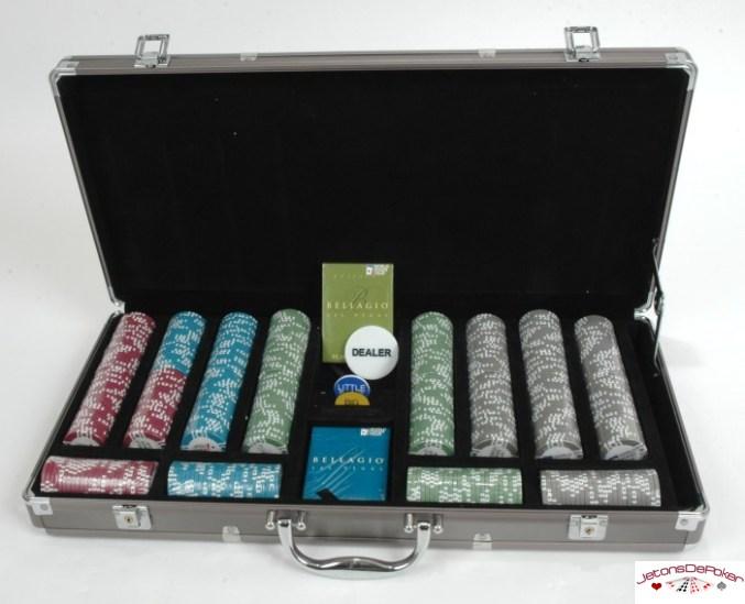 Coffret de 500 jetons de poker WPT Bellagio