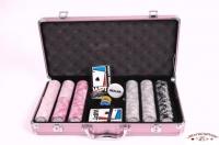 Coffret de 300 jetons de poker WPT Pink