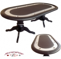 Table de Poker 'Tabula Vegas Bow' Noir