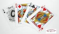 """Jeu de 52 cartes """"WPT Official Bee Rouge"""""""