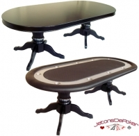 Table de Poker 'Tabula Vegas Bow' Noir + Dinner Top
