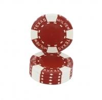 Jetons Texas Hold'em rouge