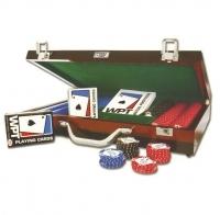 Coffret en bois de 400 jetons de poker WPT