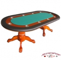 Table de poker vegas verte