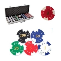 "Coffret de 500 jetons de Poker ""Texas Hold'em"""