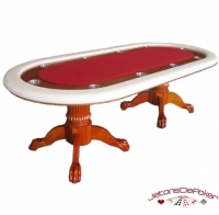 Table de poker vegas rouge