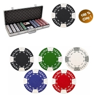 "Coffret de 500 jetons de Poker ""Clay"""