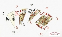 Jeux de 52 carte Fournier  poker Vision Rouge