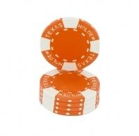 Jetons Texas Hold'em orange