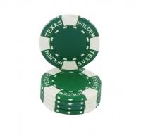 Jetons Texas Hold'em vert